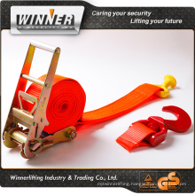 100% High Tenacity polyester 75mm Tie down straps for Truck Sea Farm Construction