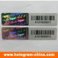 Etiqueta engomada del holograma del número de serie del negro de la matriz del DOT anti-falso