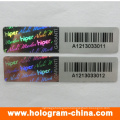 Black Serial Number Tamper Evident Hologram Sticker
