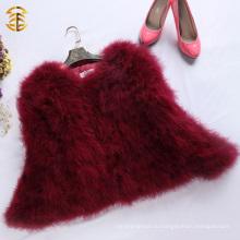 Вино Красное Турция Перо меховое пальто Европейские модные зимние пальто