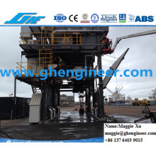 40cbm Port Jetty Borracha Pneu Bulk Cargo Mobile Hopper
