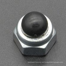 Kohlenstoff Stahl schwarz Nylon Kappe Mutter (CZ101)