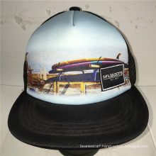 (LSN15073) 5 Panel Snapback Sublimation Print Fitted Cap