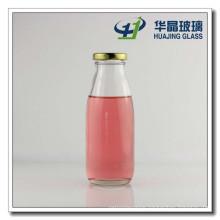 300ml Milk Glass Bottle Juice Glass Bottle with Tin Lid