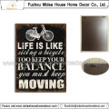 Life Design Tin Sign for Wall Hanging