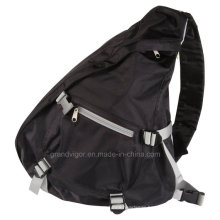 Polyester Sling Backpack with Contrast Webbing