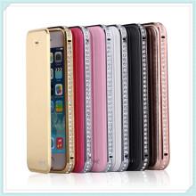 Caso de telefone de alta qualidade caso de telefone móvel diamante bling para iphone6 além de