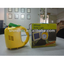 Prático portátil de baixo custo de alta qualidade LED lanterna solar com conversor de carga