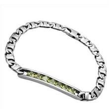 Personalizado 2015 novo estilo de cristal pulseira de prata para o casal