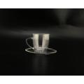 Théière / tasse en verre borosilicaté transparent
