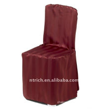 polyester chair cover with stripe,CT404 burgandy color,banquet chair cover,250GSM best quality