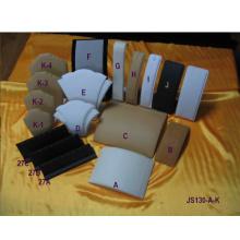 Présentoirs de présentoirs de collier à la mode de PU (JS130-AK)