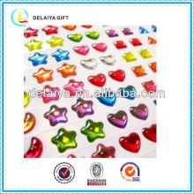 colorful clear epoxy sticker