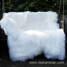 Europe style for for Lamb Fur Blanket White Color Mongolian Fur Tibetan Lamb Fur Rugs supply to Norway Suppliers