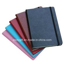 A5 Assorted Color PU Agenda Notebook with Elastic Strap Closure / Moleskin Agenda Notebooks