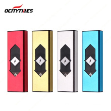 Ready stock Portable different colors double arc usb electric lighter, eco-friendly dual arc lighter