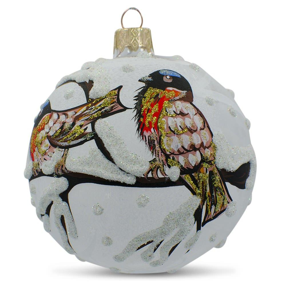 hand painted christmas glass ball