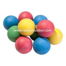 Balle en caoutchouc colorée de 18 mm