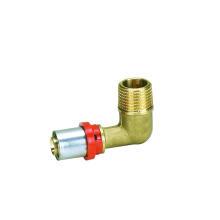 Coude mâle (raccord à sertir TH) (Hz8512) pour tuyau en plastique aluminium