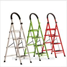 Escada de dobramento durável da etapa larga de alumínio moderna da escada do agregado familiar
