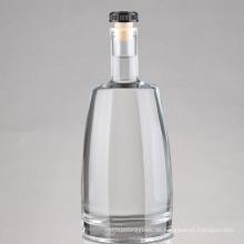 Großhandel 750ml mattiert Druck Wein Liquor Geist Glasflasche, Wodka Glasflasche