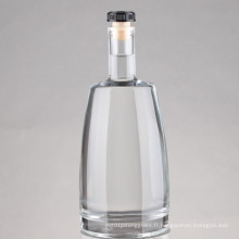 Vente en gros de 750 ml d'impression givrée Wine Liquor Spirit Glass Bottle, Vodka Glass Bottle