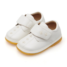 Solid White Baby Boy Casual Squeaky Shoes