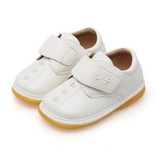 Твердая белая детская детская повседневная скрипучая обувь
