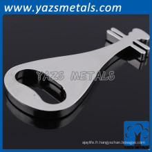 oem music note keychain de promotion de métal en acier inoxydable