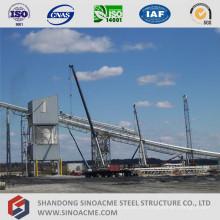 Gurtförderer, der Stahlstruktur stützt