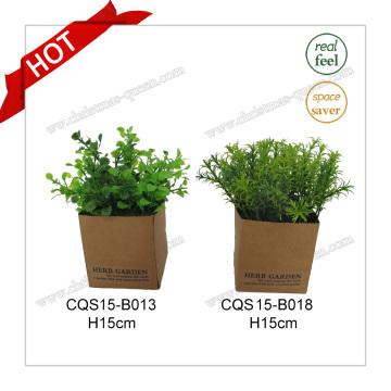 H15cm Plante décorative en plastique Fleur artificielle pour décoration intérieure