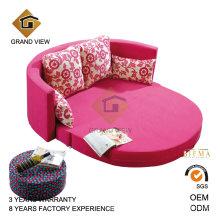 Moderno mueble antiguo redondo doble sofá-cama (GV-BS641)