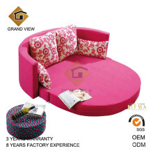 Moderna móveis antigos redonda sofá-cama duplo (GV-BS641)