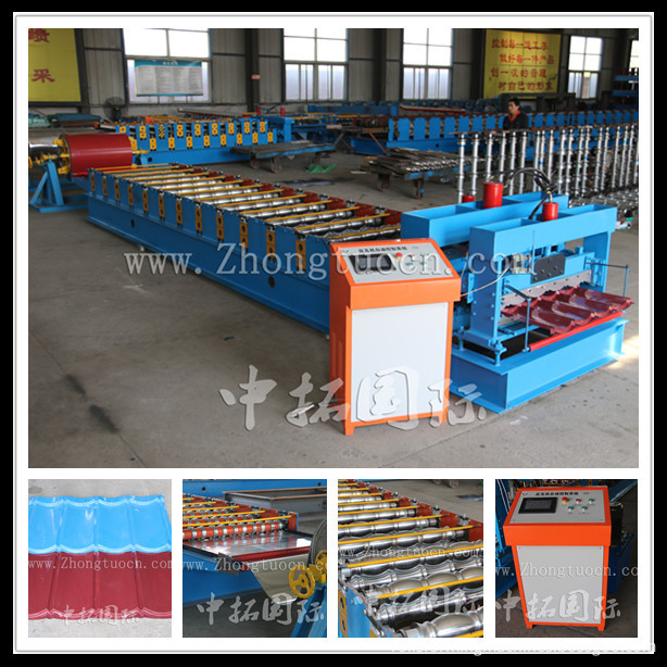 Glazed tile roll forming machine (8)