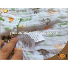 100% органическое одеяло хлопка младенца после помытого для нового младенца сделанного в материке Кита