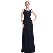 Starzz 2016 Sleeveless V-Back Black Long Chiffon Prom Dress ST000061-1