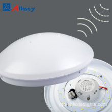 White Universal Oyster Indoor Outdoor Sensor Ceiling Light