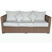 Canapé en rotin 3 places en osier confort et design