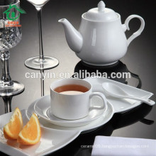 Daily Use White Round Porcelain Dessert Plates For Hotel