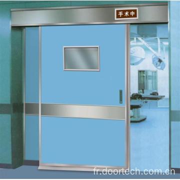 Porte étanche gaz pour opérer chambre