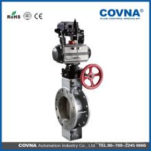 COVNA stainless steel material butterfly valve pneumatic actuator valve with handle