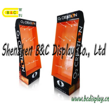 POS Cardboard Floor Display Stand with Hooks, Retail Display for Promotion (B&C-B050)