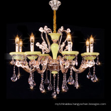 Empire style k9 crystal candle chandelier large crystal candle pendant light 88626