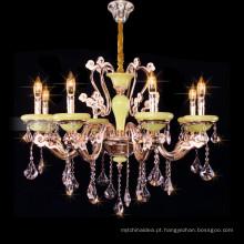 Estilo Império k9 vela de cristal lustre de cristal grande vela pingente de luz 88626