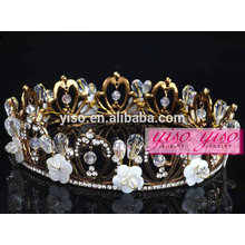 hair jewelry hot sale wholesale costume rhinestone metal tiara