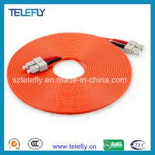 Câble multimédia à fibre optique, cordons de raccordement