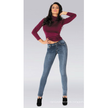 Dame Knit Jeans, gute Ausdehnung Tight Frauen Jeans, Großhandel Damen Jeans