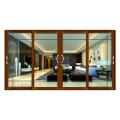 Wanjia 130 series showroom porta de correr com vidro duplo