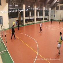 China Factory Sale PVC Sports Roll / Interlock Floor pour Futsal / Soccer / Football