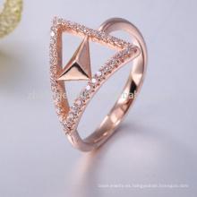 Anillo de servilleta de oro rosa 925 anillo de amatista genuina de plata de ley